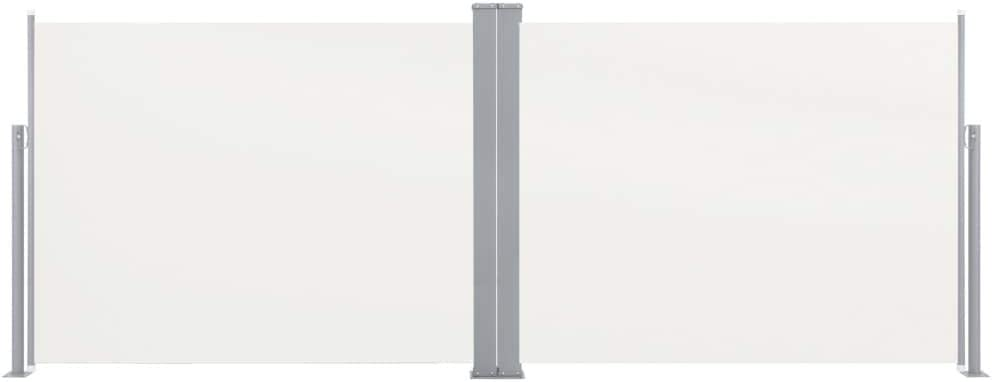 UnfadeMemory Toldo Lateral Doble y Retr/áctil para Terraza Patio o Balc/ón Restaurantes,Protecci/ón de la Privacidad,Protecci/ón Solar 100x600cm, Crema