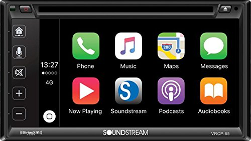 Soundstream VRCP-65 6.2'' CD DVD Bluetooth iPhone Apple Car Play Sirius XM Stereo