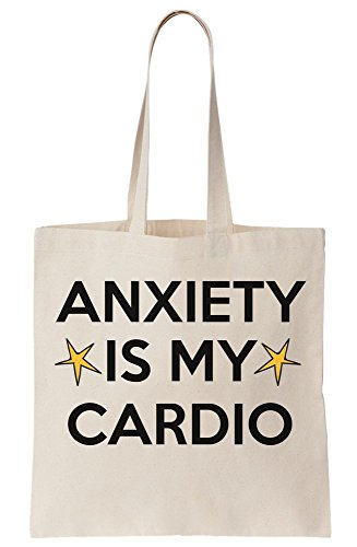 My Cardio Is Anxiety Tote Canvas Bag pqFngn5x