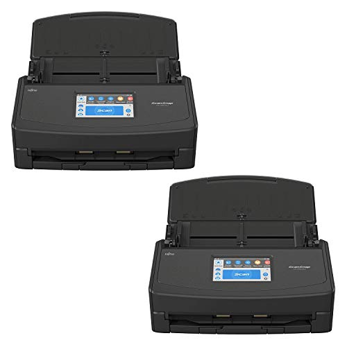 Fujitsu ScanSnap iX1500 Color Duplex Document Scanner with Touch Screen for Mac and PC, Black Bundle (2-Pack)