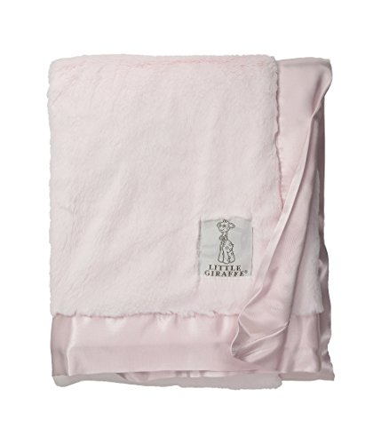 Cloth Cloth Burp Chenille - Little Giraffe Luxe Stroller Baby Blanket, Pink, 29