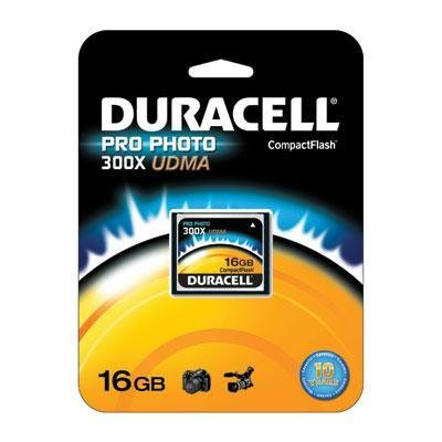 Duracell High Speed 16 GB 300X USB 2.0 Compact Flash Card Card UDMA DU-CF30-16G-C ()