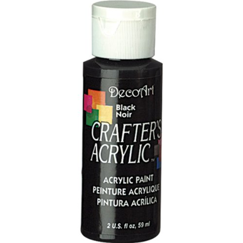 DecoArt 2-Ounce Black Crafter's Acrylic Paint -