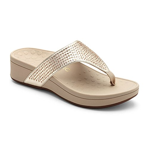 Vionic Orthaheel Naples Women's Sandal Champagne 2014 newest cheap online cost online buy cheap finishline pXnqz0B