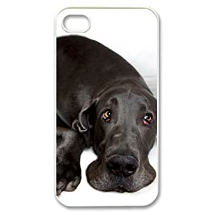Great Dane Dog Customized Cover Case with Hard Shell Protection for Iphone 4,4S Case lxa#860687