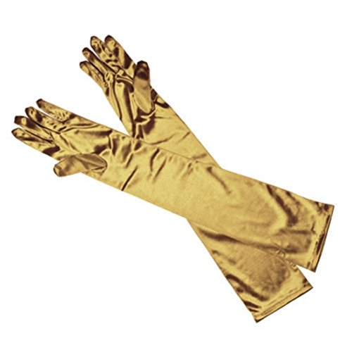 [1-Pcs (1-Pair) Howling Popular Hots Long Satin Gloves Stretch Elbow Opera Club Costume Evening Party Color] (Billiard Girl Costume)