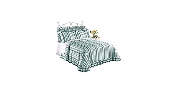 Size Twin Green 80 W X 110 L Color Green 80 W X 110 L Carol Wright Gifts Plisse Striped Bedspread Size Twin Bedspreads Coverlets Sets Home Kitchen Botani Com Au