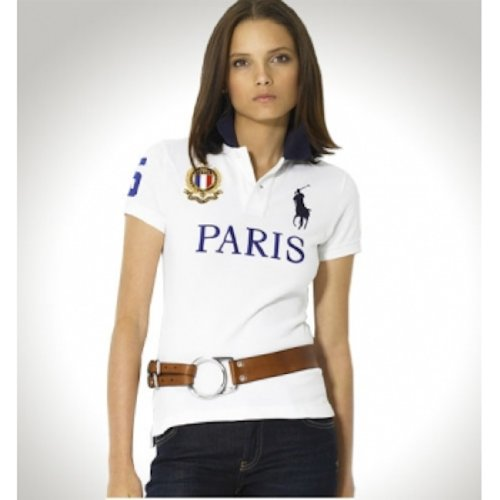 Polo Ralph Lauren Womens Shirt White Paris (XS)