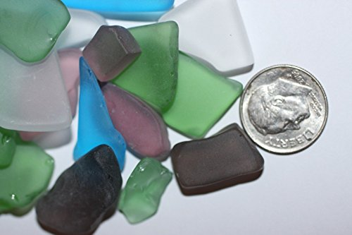 Salty Pelican Seaglass Mosaic Crafts Satin Smooth Finish Machine Tumbled Top Quality Assorted Mix of 2 pounds