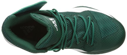 Adidas Prestaties Mens Gek Bounce Basketbalschoen Collegiale Groen / Wit / Groen