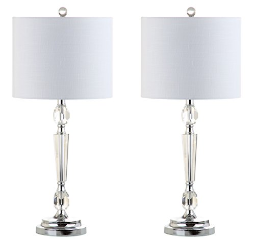 JONATHAN Y JYL2047A-SET2 Collection Victoria Crystal Table Lamp Set of 2 , 12 x 27 , Clear