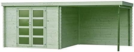 Fonteyn Vera - Caseta de jardín (tejado plano, 560 x 300 cm, alta presión, impermeable): Amazon.es: Jardín