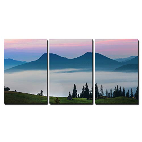the mountain autumn landscape with colorful forest x3 Panels