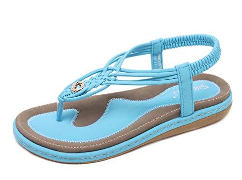 Bleues Kaki Bout Marrons chaussures Clair Ouvert Femme Bleu À Plats De Boucle Tongs Été Noires Ville Entredoights Talons Avec Sandales Plates Claquettes Matelassée zHqUwRR