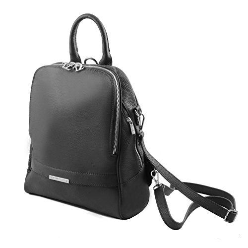 Tuscany Leather - TL Bag - Sac à dos pour femme en cuir souple - Taupe clair
