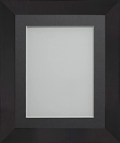 Frame Company Carlton Range 16X12-Inch Black Picture Photo Frame with Ivory Mount For Image Size 12X8-Inch