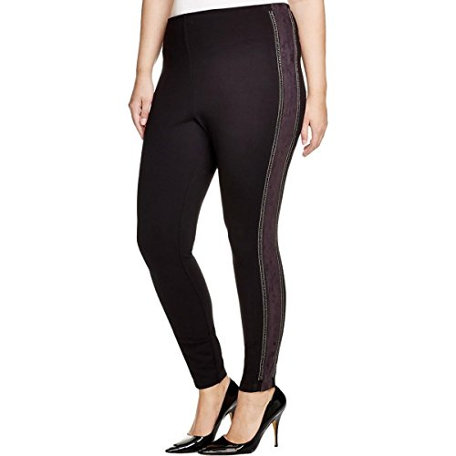 Lysse Women's Plus-Size Chain Trim Legging, Black, 3X