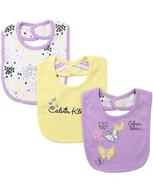 Baby Girls' Bibs (Pack of 3)
