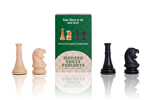 The House of Staunton Leopard and Cannon - Musketeer Chess Variant Kit - 4 Set