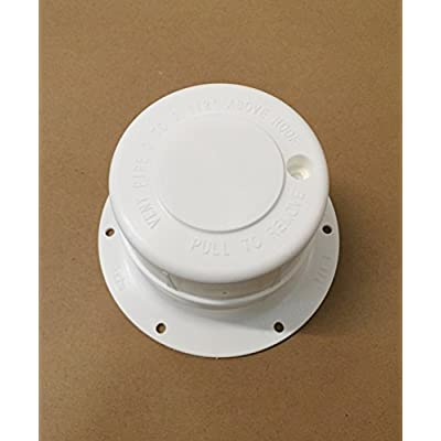 Autmotive Authority White Plastic Attic/Plumbing Vent Cover 1-1/2