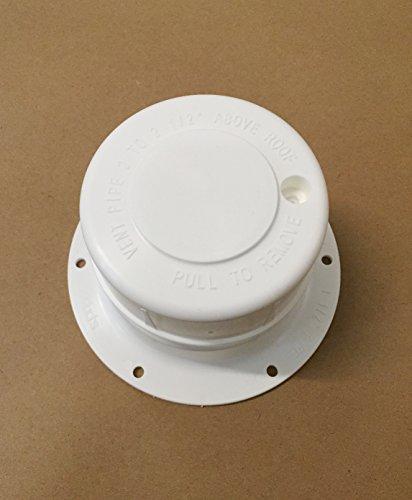 WHITE Plastic Attic/Plumbing Vent Cover 1-1/2