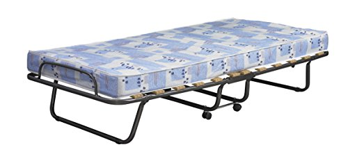 Linon 358ROMA-01-AS-U Folding Bed, Roma, Twin, Blue And White