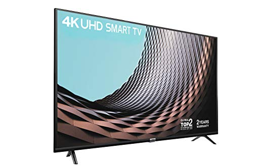 TCL 43DP628 43' Smart TV - 2 Year Warranty,4K HDR10 & HLG (Stream Freeview Play / BBC iPlayer / Netflix 4K / YouTube 4K) ,Work with Alexa, Connectivity & Wi-Fi Sharing (T-Cast), 2*HDMI, 1*USB Port