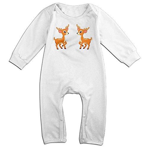Jungle Litter (VanillaBubble Deer Friends For 6-24 Months Boys&Girls Geek Romper White Size 18)