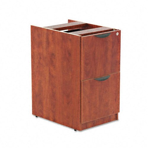 Alera VA542822MC Valencia Series 16 by 22 by 28-Inch 2-File Drawer Full Pedestal, Medium (2 Sided Cherry Table)