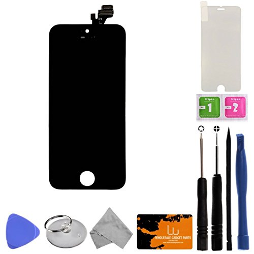 LCD, Digitizer & Frame Assembly for Apple iPhone 5 (CDMA & GSM) (Black) (Grade A) with Tool Kit (Cdma Lcd)