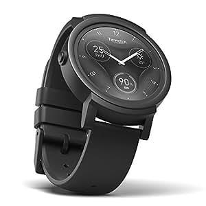 Ticwatch Reloj Inteligente Smart Watch Pantalla Táctil de OLED 1.4 Pulgada Compatible con iOS Android Sistema Android Wear 2.0 Lleva Una Vida Organizada Color Negro.
