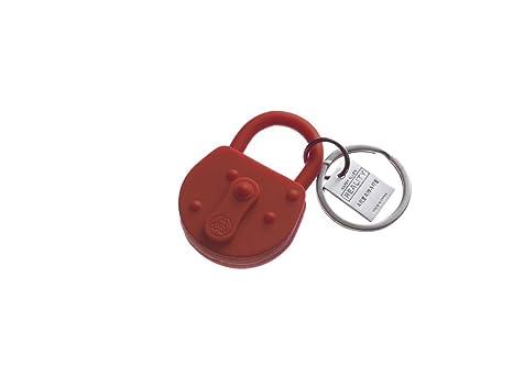 Llavero Lock de Silicona Rojo