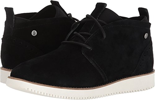 Hush Puppies Womens Chowchow Chukka Black Suede 7 W (Hush Puppies Casual Boot)
