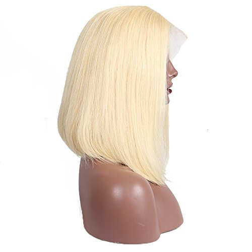 Beauty : CARA 613 Blonde Lace Front Wigs Straight 130% Density Short Bob Human Hair Wigs 12inch