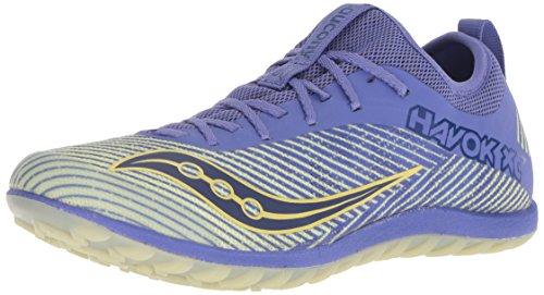 Saucony Women's Havok XC2 Flat Track Shoe, Purple/Yellow, 8.5 M US by Saucony