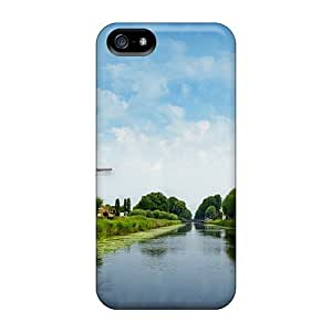 USMONON Phone cases Case Cover Windmill Iphone Iphone 5 5s Protective Case