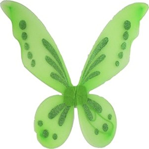 [Rush Dance Pixie Fairy Angel Wings Tinkerbell Princess Tutu Dress up Costume (One Size, Lime Green)] (Adult Tinkerbell Fairy Costumes)
