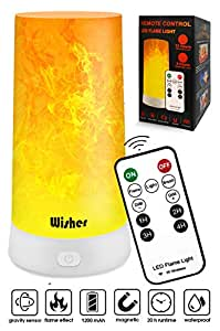 Bedside Table Lamp with Remote Control, Flame Simulation, Led, USB Charging & Wireless, Bedroom & Baby Room Yeelight, Night Light for Kids and Adults