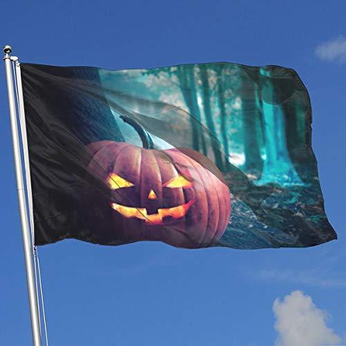 Halloween Forest Pumpkins Banner Flag Custom Garden Home Flag Spring Summer Yard Outdoor Flag 3 X5 House Banner Flag