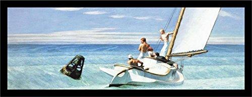 Hopper Edward Ground Swell Art - FRAMED Ground Swell by Edward Hopper 36x12 Museum Art Print Poster Sailing Seaside Ocean Coastal