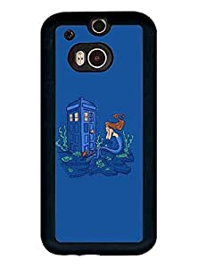 HTC One M8 Funda Case Doctor Who Tardis,Movie Protector Dust Proof Solid Impact Resistant Anti Slip Funda Case Cover
