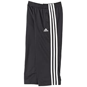 adidas Little Boys' Tricot Pant, Grey/White, 6