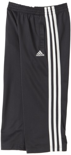 adidas Little Boys' Tricot Pant, Grey/White, ()