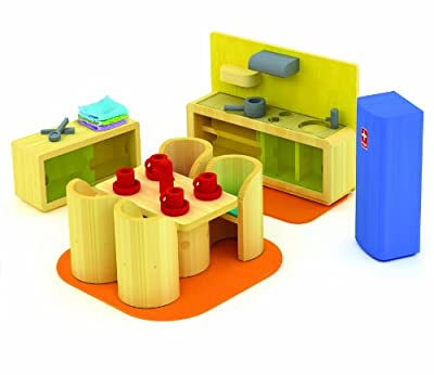 Hape Cozy Kitchen Diner In Bamboo