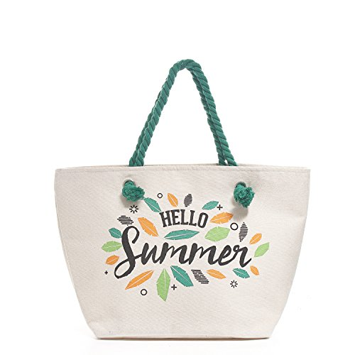 YS·AU Cotton Beach Bag With Inner Fastener - Tote Bag Screen Printing (Tote Bags Printing Screen)