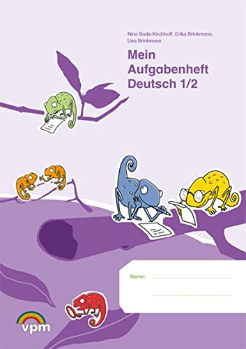 Mein Aufgabenheft Deutsch 1/2: Arbeitsheft Klasse 1/2 (ABC Lernlandschaft)