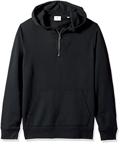 AG Adriano Goldschmied Men's Lyle Quarter Zip Pullover Hoodie, True Black XL from AG Adriano Goldschmied