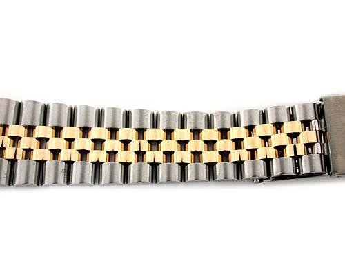 Mens 14k/ss Jubilee Watch Band for Rolex 19mm Date