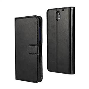 HTC Desire 610 Case , Topratesell 2014 New Style Wallet Pu Leather Case Cover for HTC Desire 610 (Black)