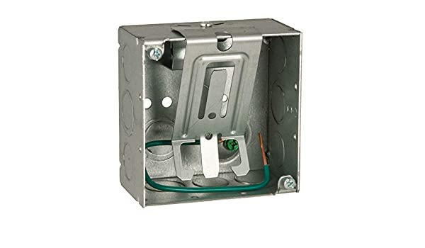 Welded with STAB-IT Connector Raised Ground Deep Cable Management Clip Square Box Hubbell 232SCM 4 in 2-1//8 in #12 Solid Copper Pigtail 8 in